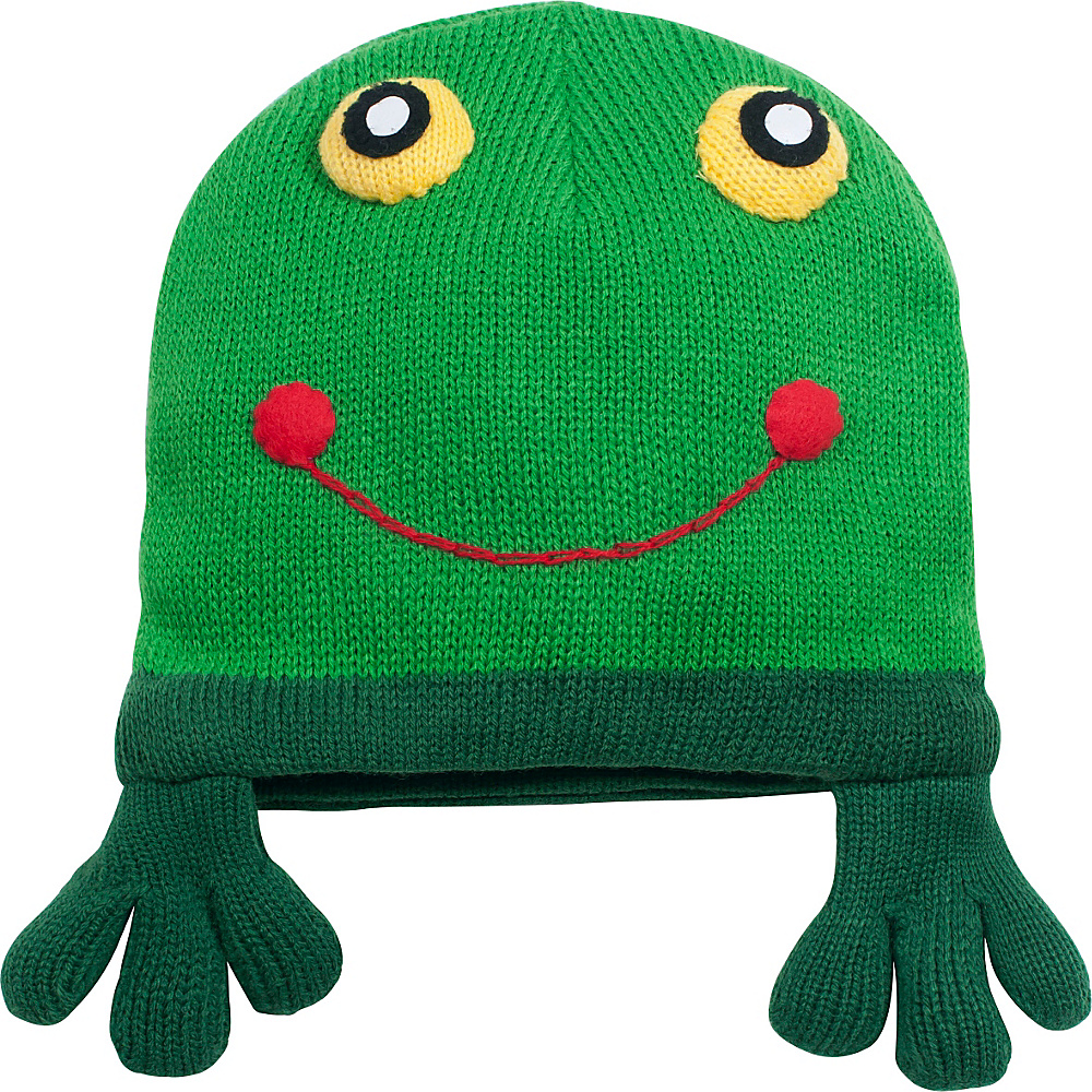 Kidorable Frog Knit Hat Green One Size Kidorable Hats Gloves Scarves