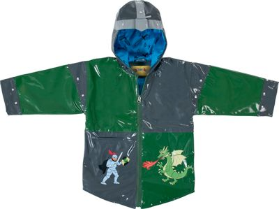 Kidorable Dragon Knight All-Weather Raincoat 2T - Grey - Kidorable Men's Apparel