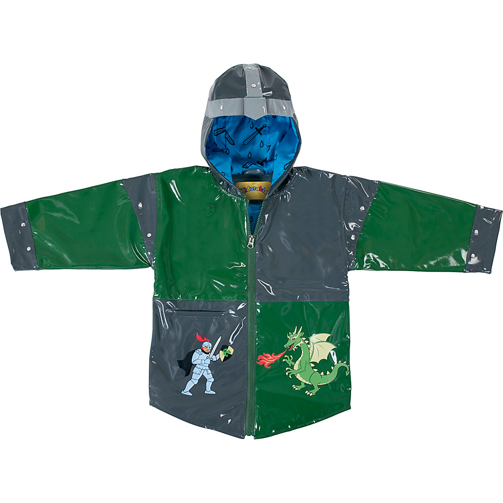 Kidorable Dragon Knight All-Weather Raincoat 6/6X - Grey - Kidorable Mens Apparel - Apparel & Footwear, Men's Apparel
