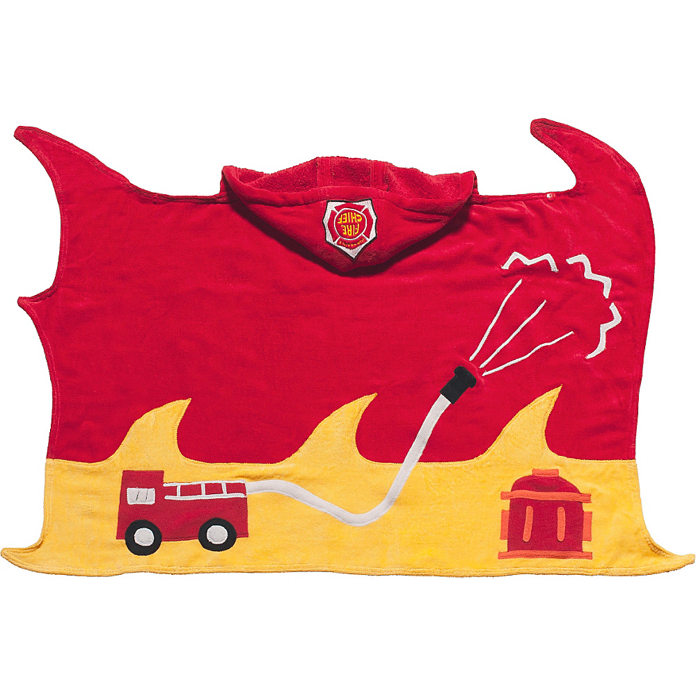 Kidorable Fireman Hooded Towel Red - Small - Kidorable Travel Health & Beauty - Travel Accessories, Travel Health & Beauty