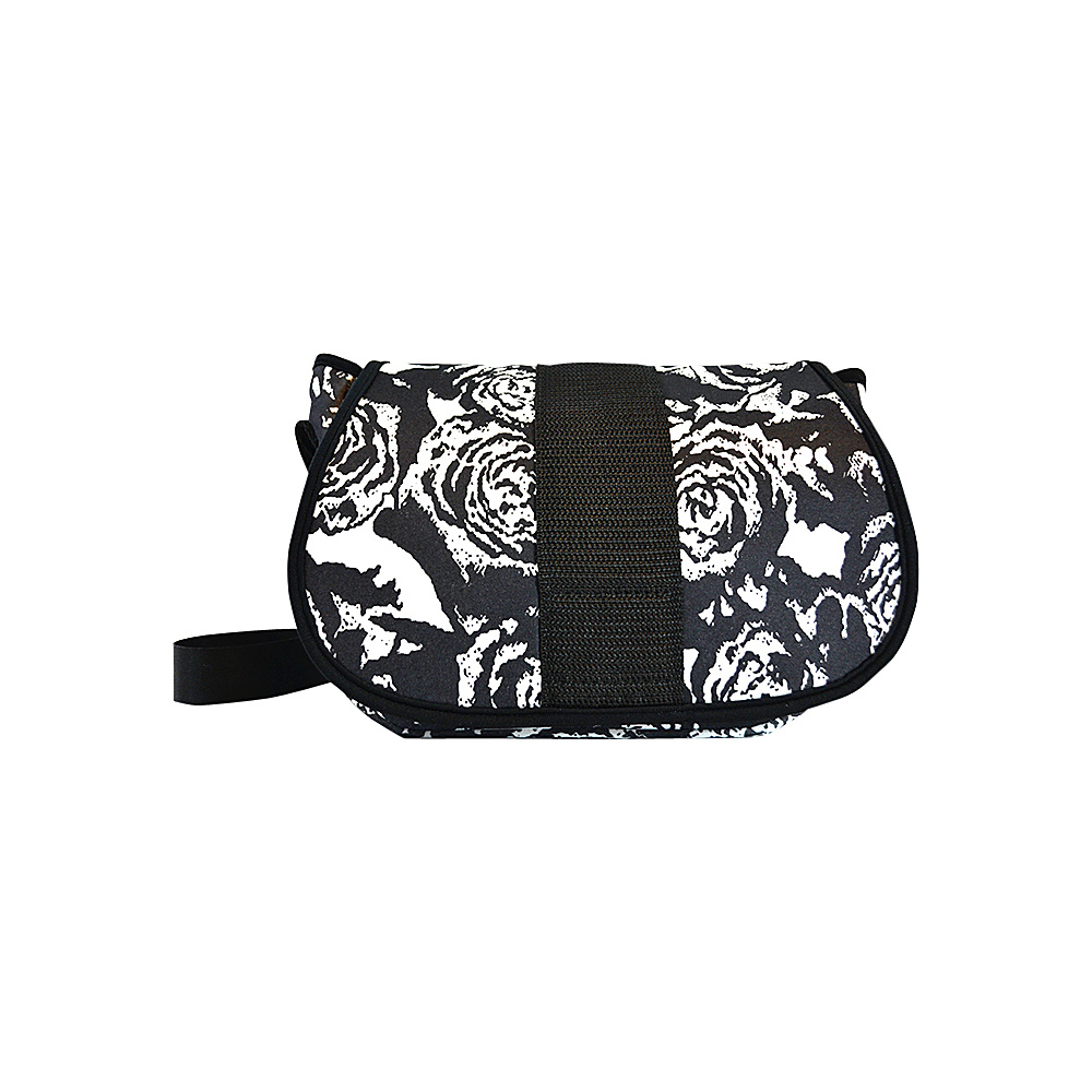 NuFoot NuPouch Crossbody Bag Black amp; White Roses NuFoot Manmade Handbags
