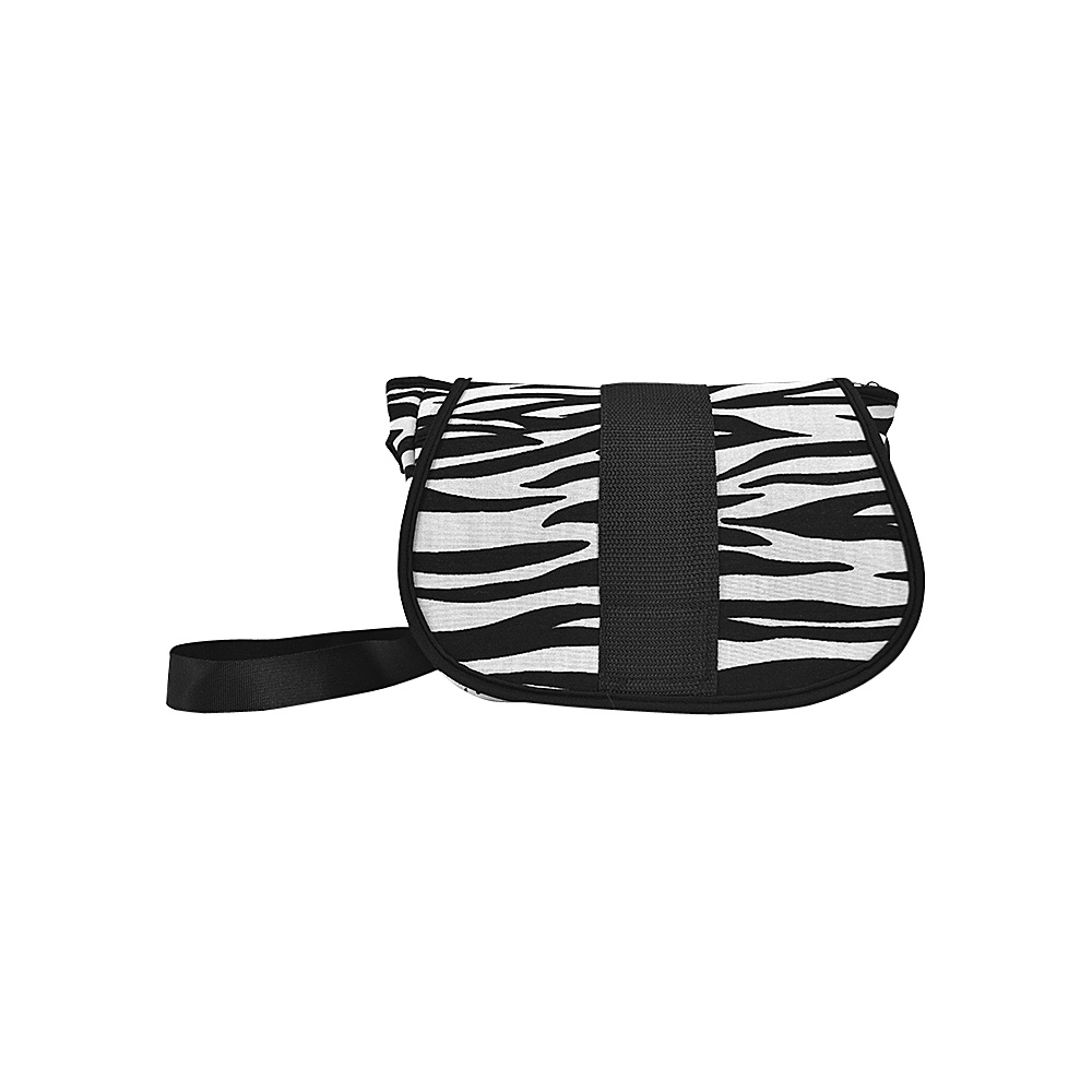 NuFoot NuPouch Crossbody Bag Black amp; White Zebra NuFoot Manmade Handbags