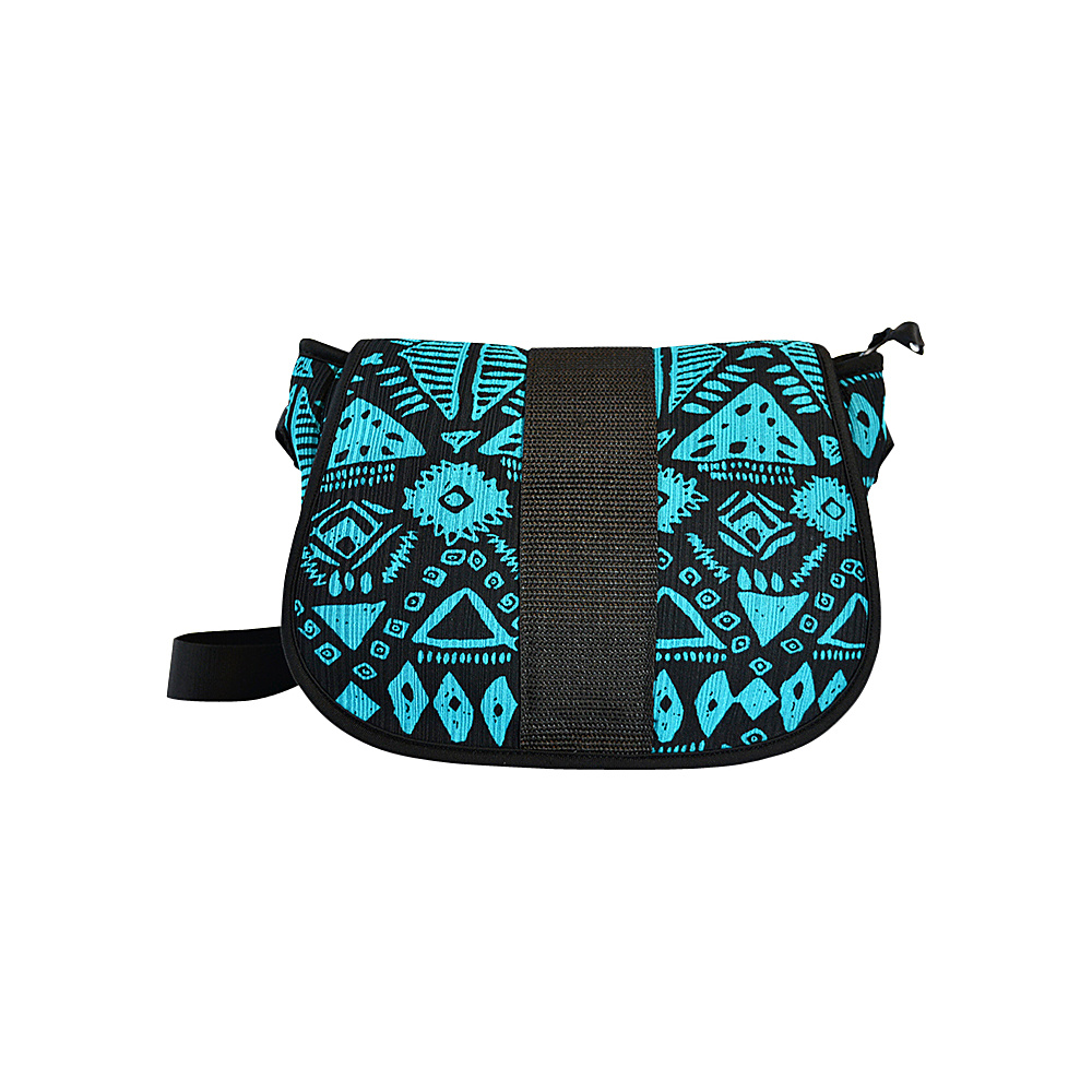 NuFoot NuPouch Crossbody Bag Blue Aztec NuFoot Manmade Handbags