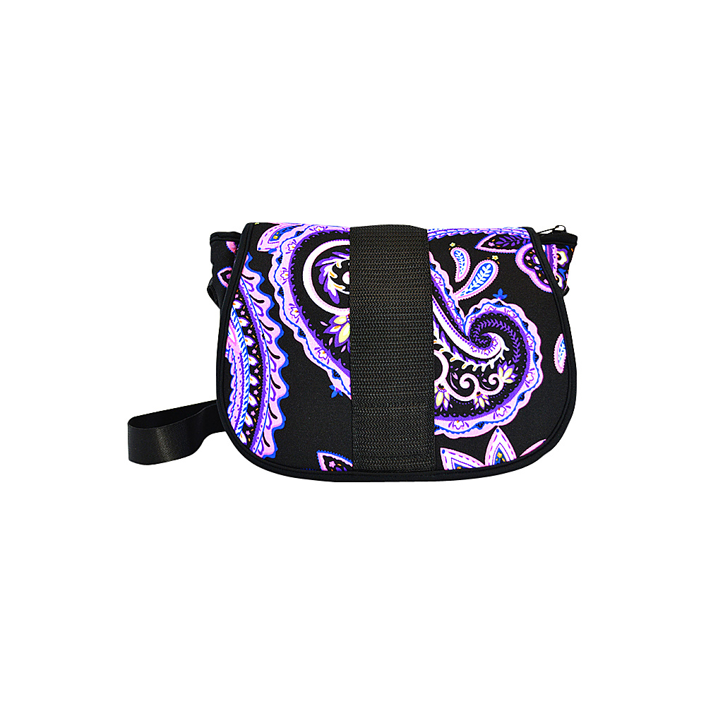 NuFoot NuPouch Crossbody Bag Purple Paisley NuFoot Manmade Handbags