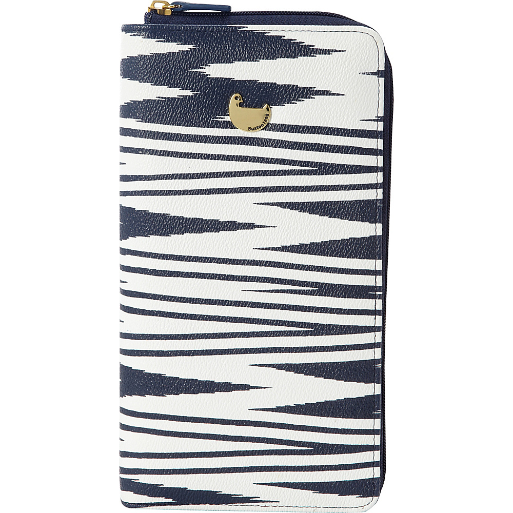 Buxton Chevron Travel Collection All About Travel Wallet Navy - Buxton Travel Wallets - Travel Accessories, Travel Wallets
