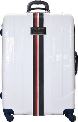 Tommy Hilfiger Luggage Lochwood 28 Hardside Upright Spinner White - Tommy Hilfiger Luggage Softside Checked