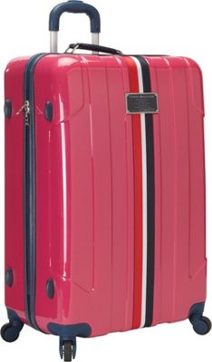 Tommy Hilfiger Luggage Lochwood 28 Hardside Upright Spinner Pink - Tommy Hilfiger Luggage Softside Checked