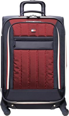 Tommy Hilfiger Luggage Classic Sport 28 inch Exp. Upright Navy/Burgundy - Tommy Hilfiger Luggage Softside Checked