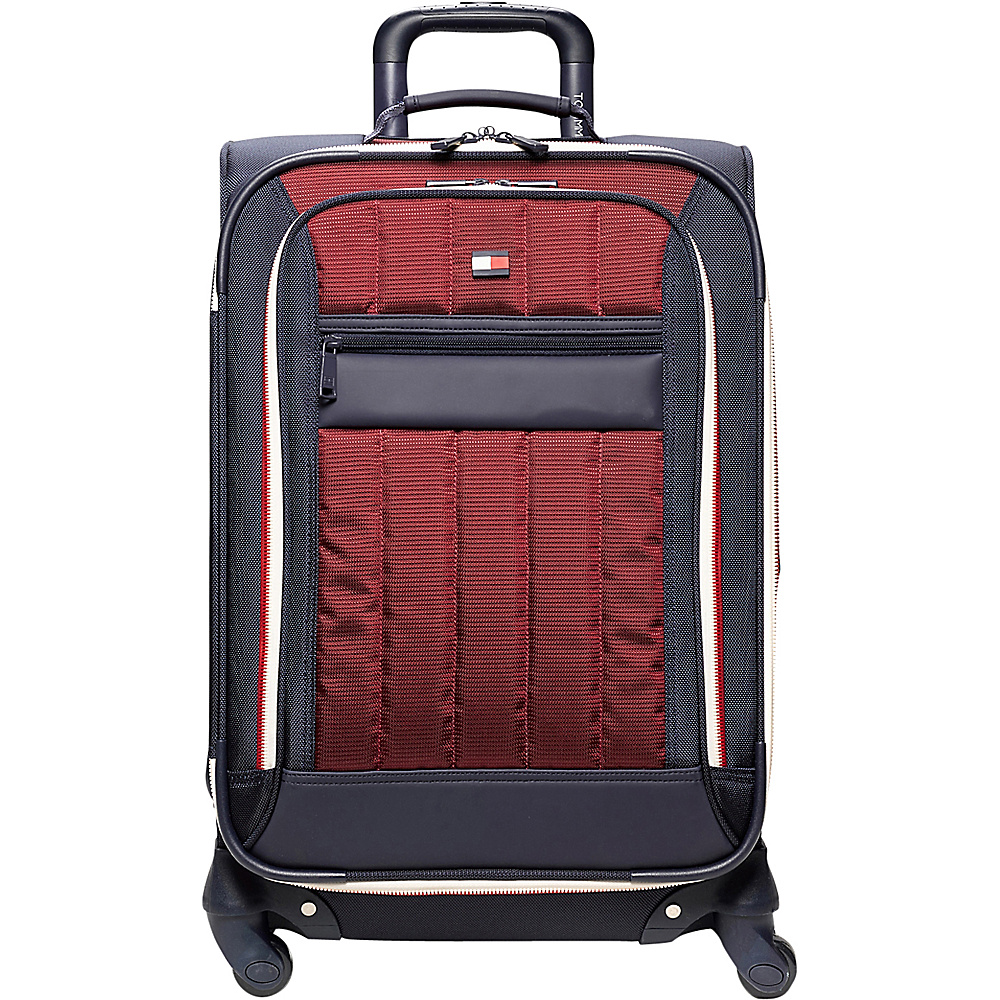 Tommy Hilfiger Luggage Classic Sport 28 Exp. Upright Navy Burgundy Tommy Hilfiger Luggage Softside Checked