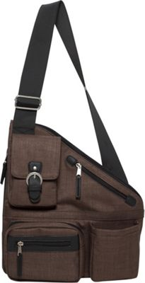 Sacs Collection by Annette Ferber Metro Signature Cross Body Bag- RFID Sleeve and Durable Strap Chocolate - Sacs Collection by Annette Ferber Fabric Handbags