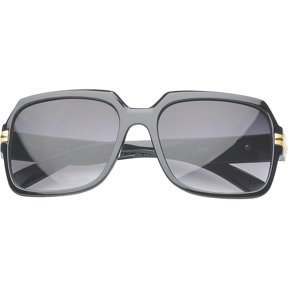 SW Global Eyewear Joanna Rectangle Fashion Sunglasses Black - SW Global Sunglasses - Fashion Accessories, Sunglasses