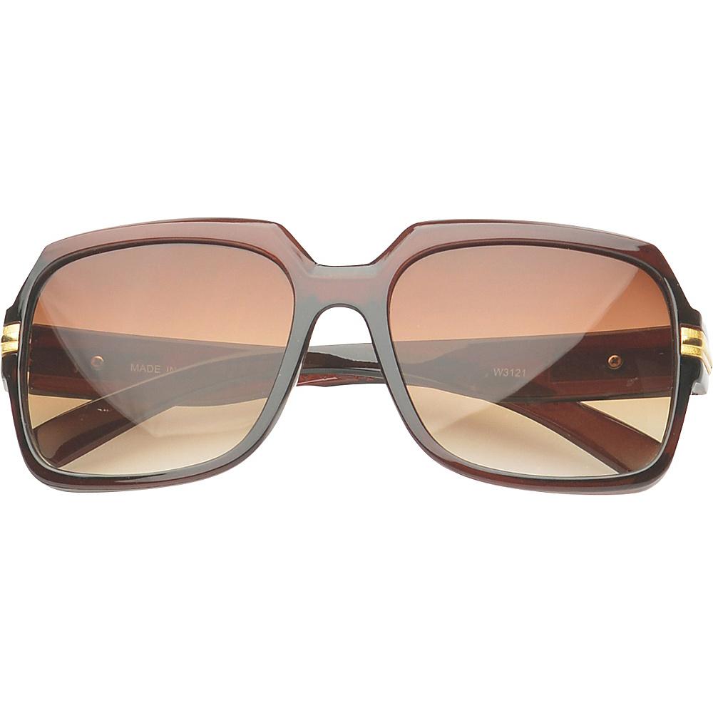 SW Global Eyewear Joanna Rectangle Fashion Sunglasses Brown - SW Global Sunglasses - Fashion Accessories, Sunglasses