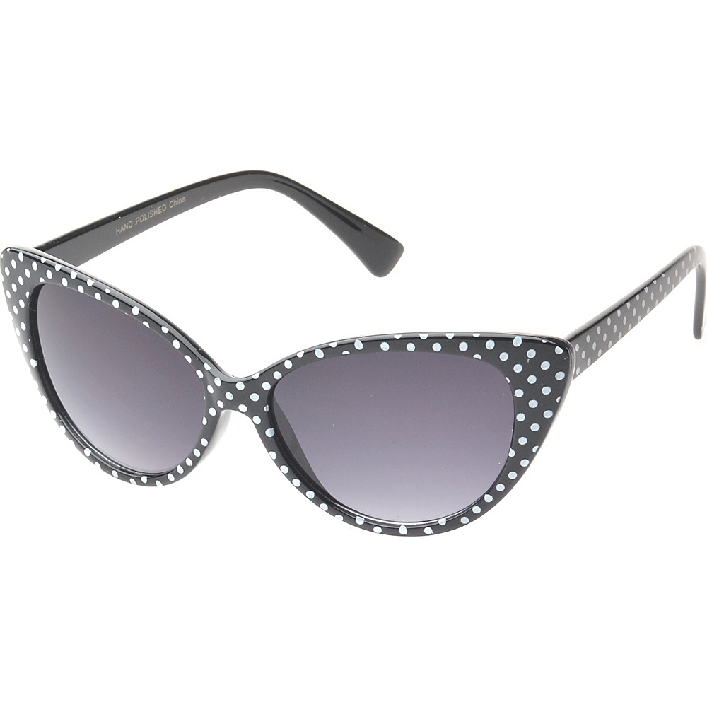 SW Global Eyewear Saville Cat Eye Fashion Sunglasses Black White - SW Global Sunglasses - Fashion Accessories, Sunglasses