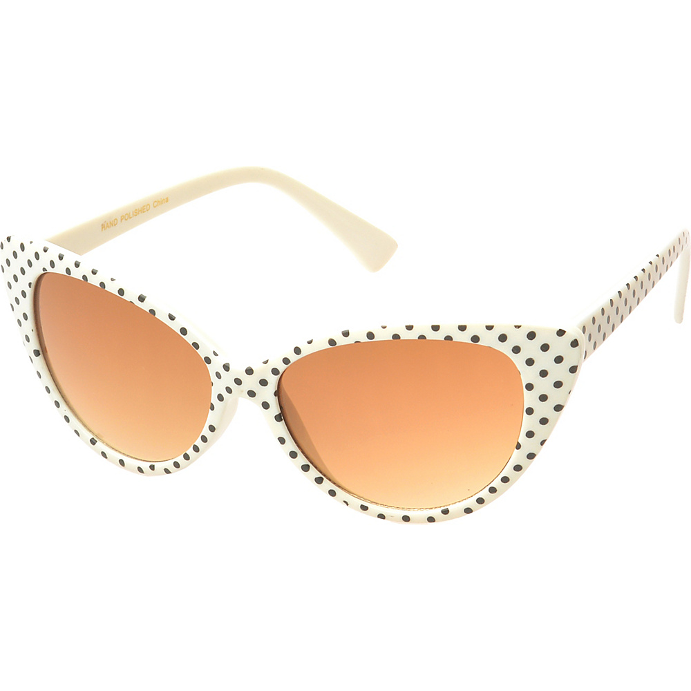 SW Global Eyewear Saville Cat Eye Fashion Sunglasses Beige Black - SW Global Sunglasses - Fashion Accessories, Sunglasses