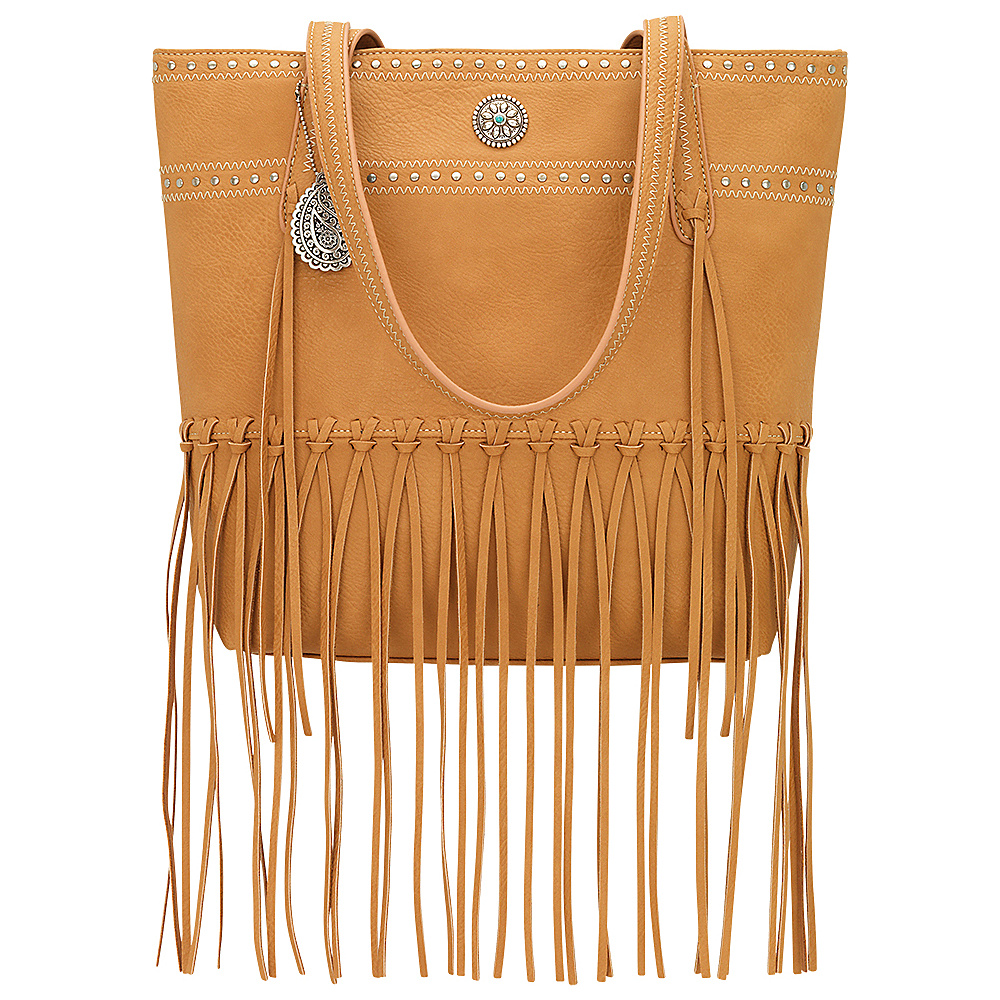 Bandana Rio Rancho Zip Top Tote Tan Bandana Manmade Handbags