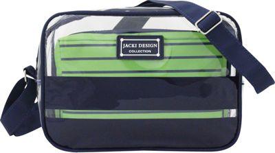 Jacki Design Felicita 2 Piece Crossbody Bag Set Dark Blue - Jacki Design Fabric Handbags