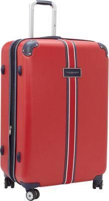 Tommy Hilfiger Luggage Classic Hardside 29 Upright Spinner Red - Tommy Hilfiger Luggage Hardside Checked