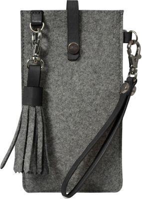 Sherpani Livi Wool & Leather Large Phone Case Slate - Sherpani Electronic Cases