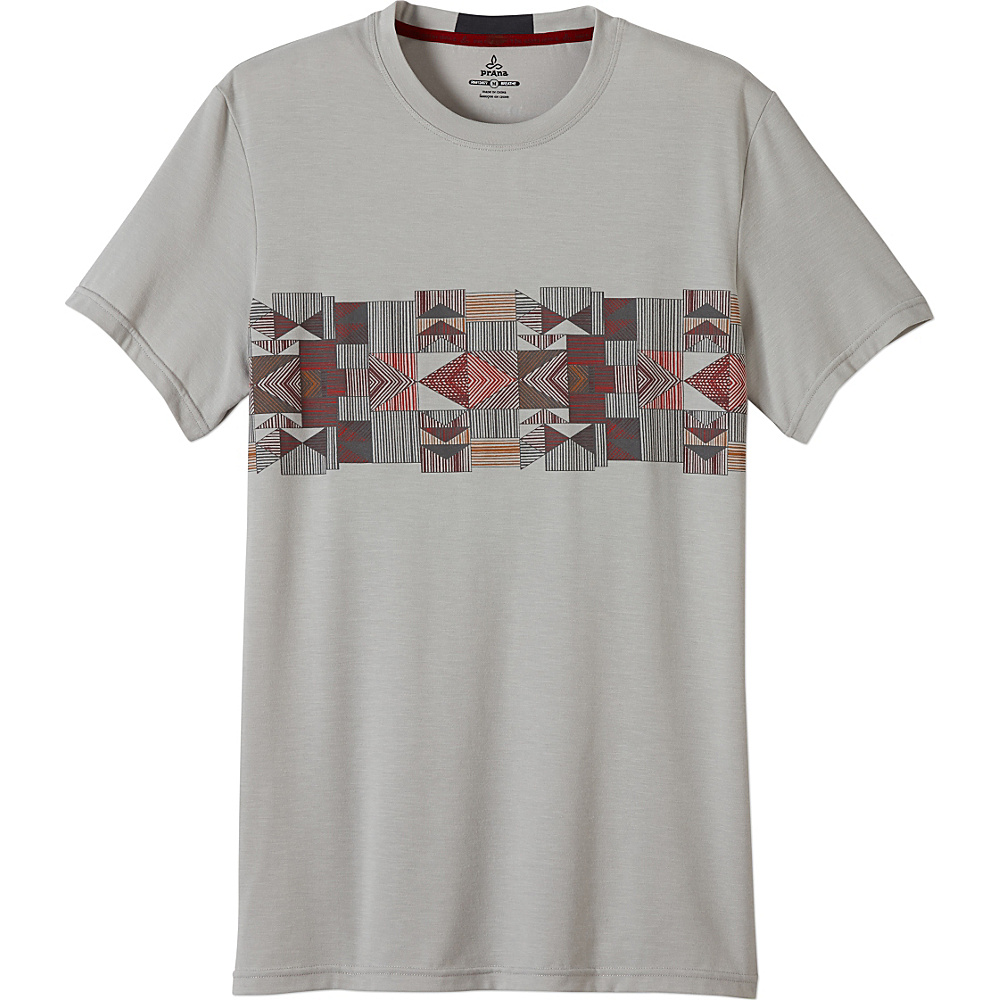 PrAna Printed Ridge Tech Tee Shirt XL - Silver Geode - PrAna Mens Apparel - Apparel & Footwear, Men's Apparel
