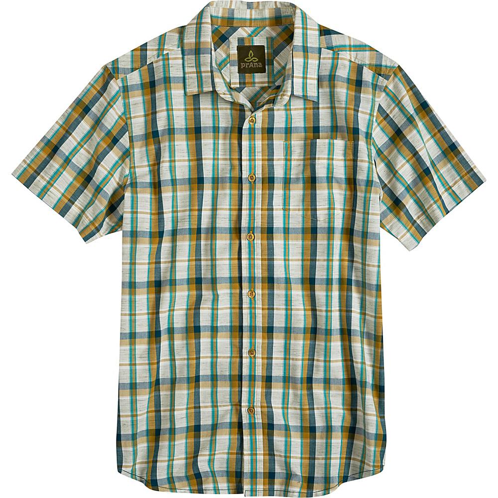 PrAna Tamrack Shirt S - Deep Teal - PrAna Mens Apparel - Apparel & Footwear, Men's Apparel