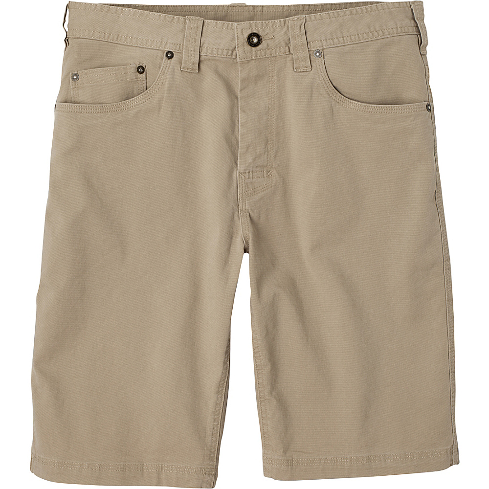 PrAna Bronson Shorts - 11 Inseam 35 - Dark Khaki - PrAna Mens Apparel - Apparel & Footwear, Men's Apparel