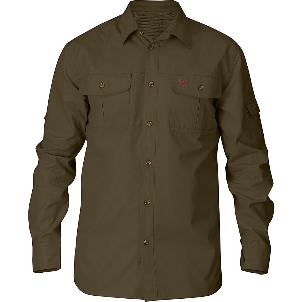 Fjallraven Sarek Trekking Shirt S - Dark Olive - Fjallraven Mens Apparel - Apparel & Footwear, Men's Apparel