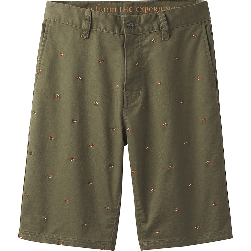 PrAna Table Rock Chino Shorts 38 - Cargo Green - PrAna Mens Apparel - Apparel & Footwear, Men's Apparel