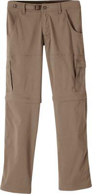 PrAna Stretch Zion Convertible Pants - 30 inch Inseam 30 - Mud - PrAna Men's Apparel