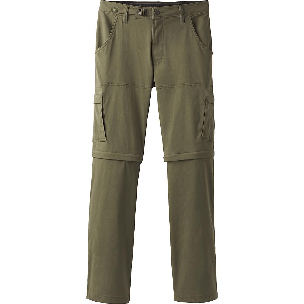 PrAna Stretch Zion Convertible Pants - 30 Inseam 31 - Cargo Green - PrAna Mens Apparel - Apparel & Footwear, Men's Apparel