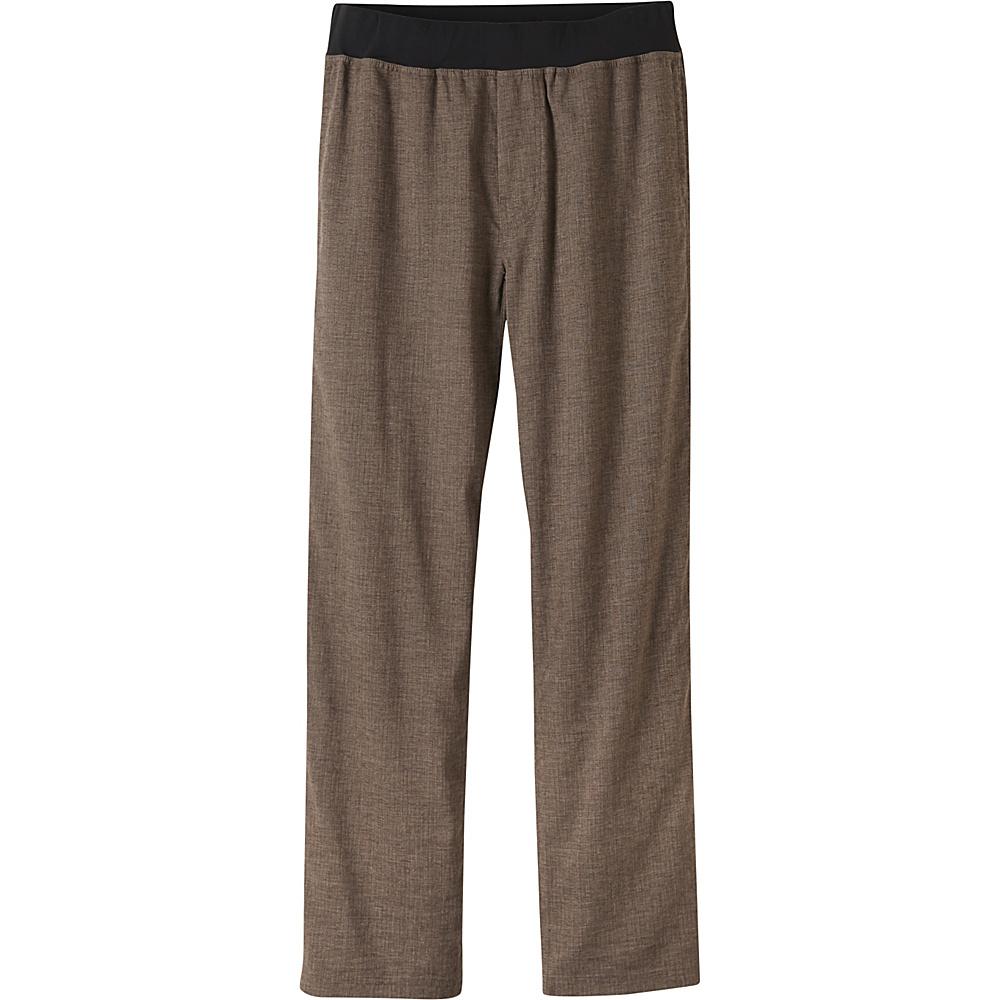 PrAna Vaha Pants - 34 Inseam S - Brown Herringbone - PrAna Mens Apparel - Apparel & Footwear, Men's Apparel