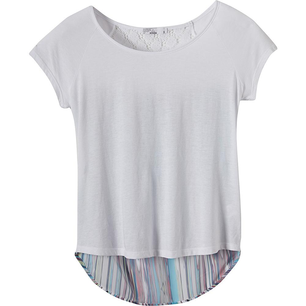 PrAna Dina Top M - White - PrAna Womens Apparel - Apparel & Footwear, Women's Apparel