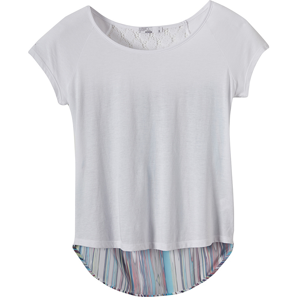 PrAna Dina Top L - White - PrAna Womens Apparel - Apparel & Footwear, Women's Apparel