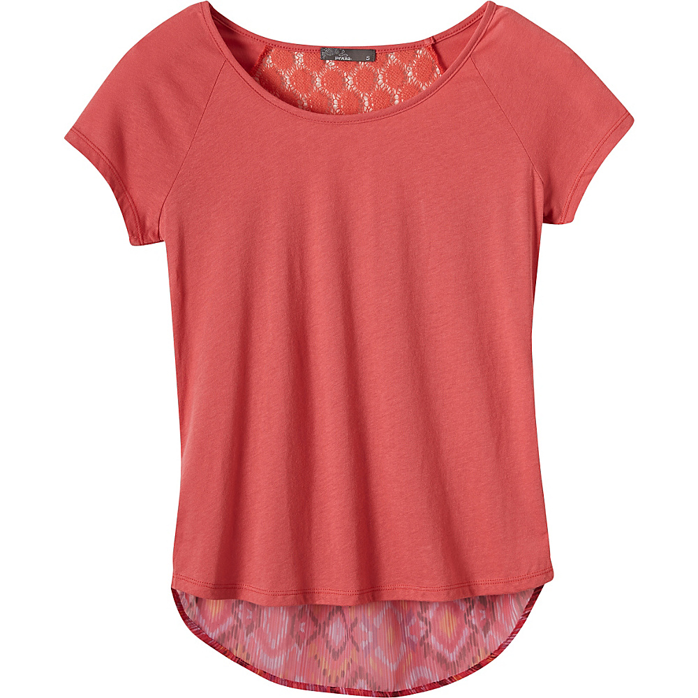 PrAna Dina Top S - Red Slate - PrAna Womens Apparel - Apparel & Footwear, Women's Apparel