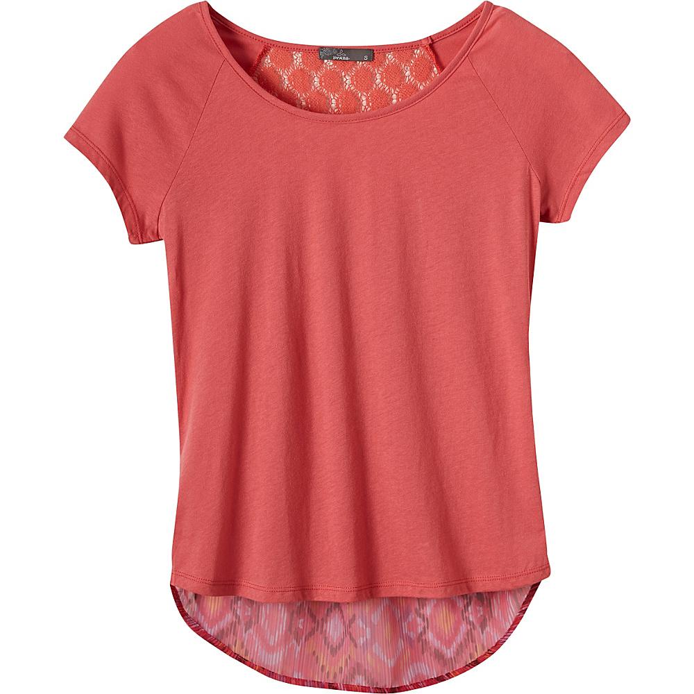 PrAna Dina Top L - Red Slate - PrAna Womens Apparel - Apparel & Footwear, Women's Apparel