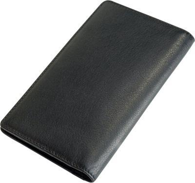 Visconti Jaws Leather Tall Checkbook Wallet Black/Green - Visconti Men's Wallets