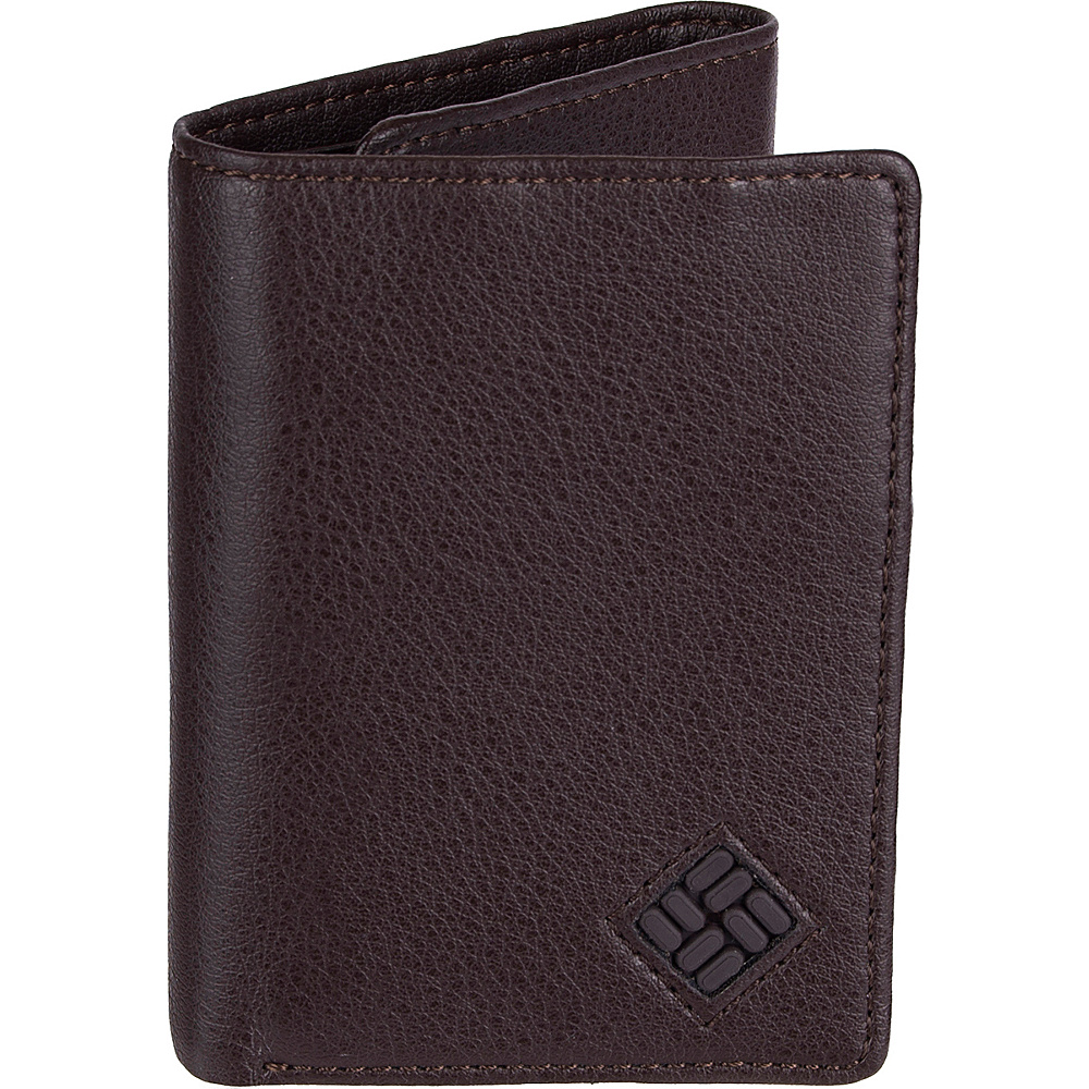 Columbia Trifold Wallet with RFID Protection Brown Columbia Men s Wallets
