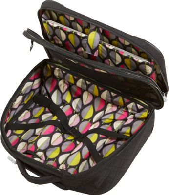 "Vera Bradley 17"" On a Roll Work Bag- Solids Classic Black - Vera Bradley Softside Carry-On"