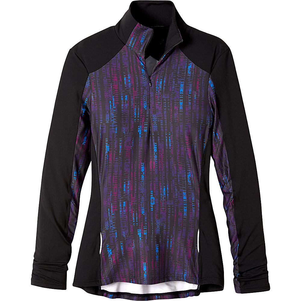 PrAna Sierra 1/4 Zip L - Black Kaleidoscope - PrAna Womens Apparel - Apparel & Footwear, Women's Apparel