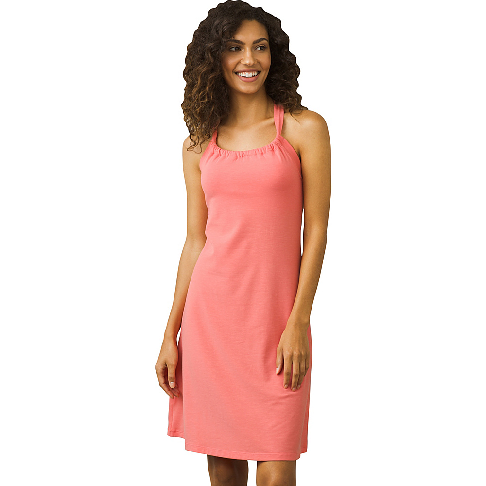 PrAna Quinn Dress S - Summer Peach - PrAna Womens Apparel - Apparel & Footwear, Women's Apparel