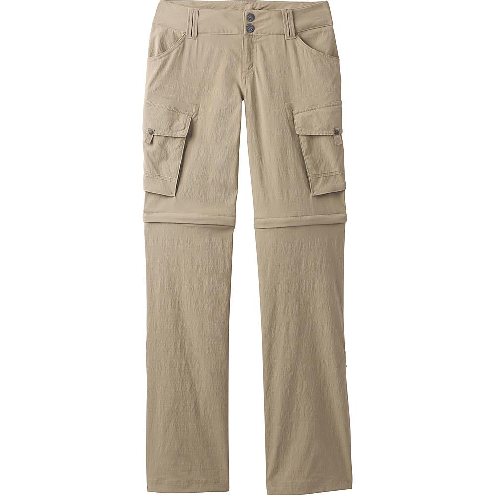 PrAna Sage Convertible Pants - Tall Inseam 6 - Dark Khaki - PrAna Womens Apparel - Apparel & Footwear, Women's Apparel