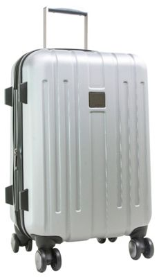 Calvin Klein Luggage Cortlandt 3.0 24 Upright Hardside Spinner Silver - Calvin Klein Luggage Softside Checked