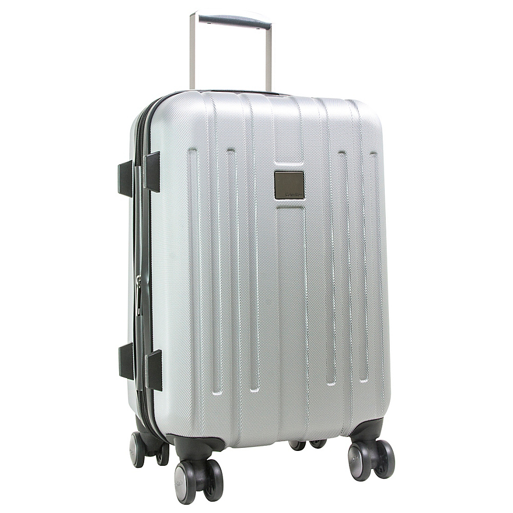 Calvin Klein Luggage Cortlandt 3.0 24 Upright Hardside Spinner Silver Calvin Klein Luggage Softside Checked