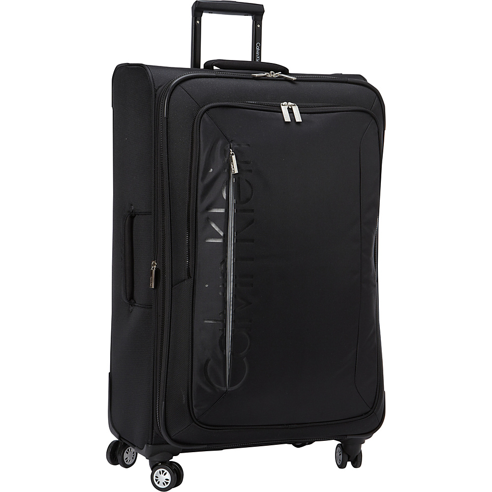 Calvin Klein Luggage Tremont 29 Upright Softside Spinner Black - Calvin Klein Luggage Softside Checked