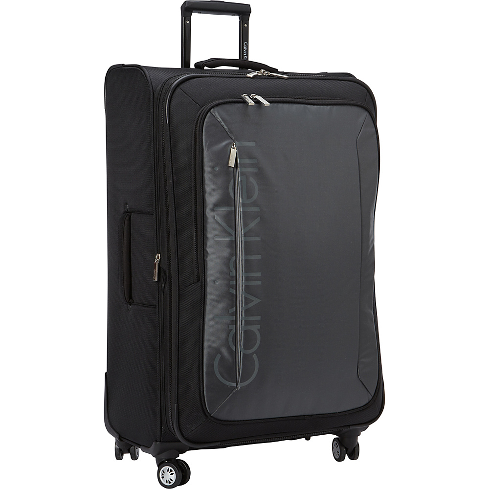 Calvin Klein Luggage Tremont 29 Upright Softside Spinner Grey Calvin Klein Luggage Softside Checked
