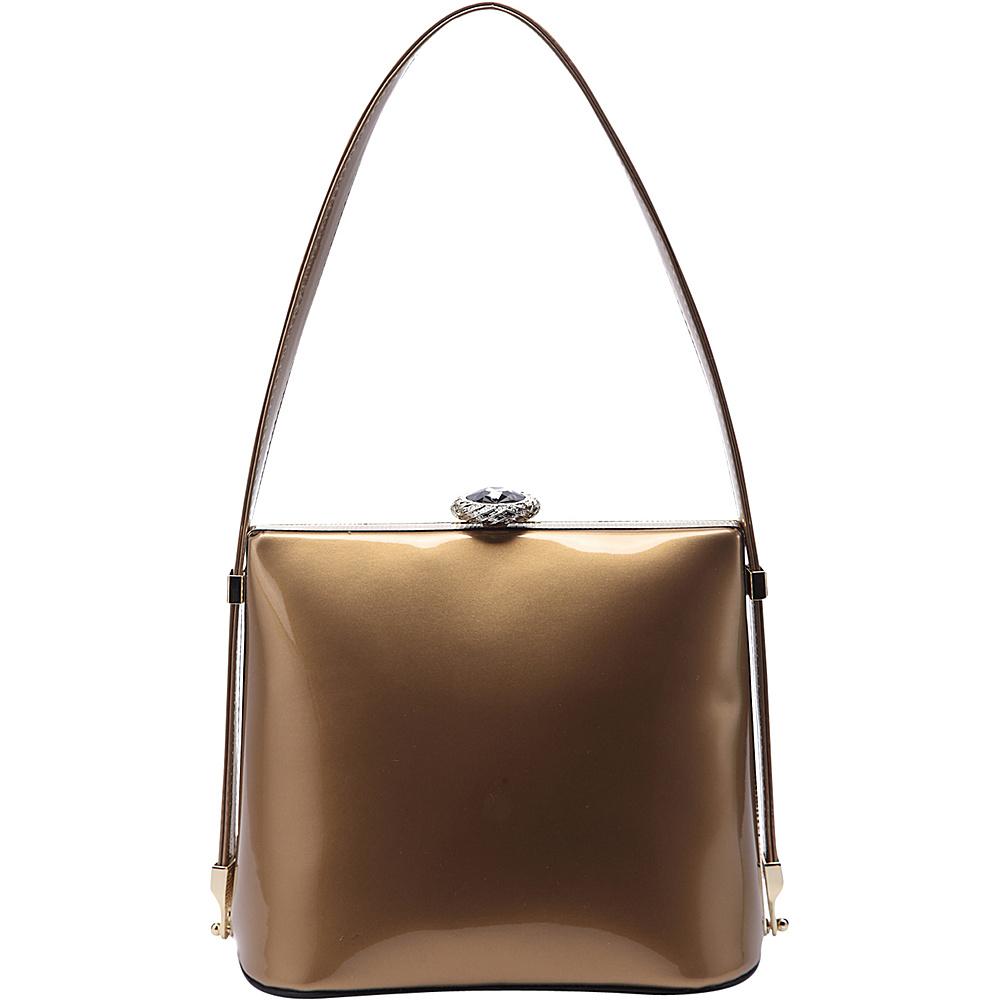 MKF Collection Lily Designer Shoulder Bag Gold - MKF Collection Manmade Handbags