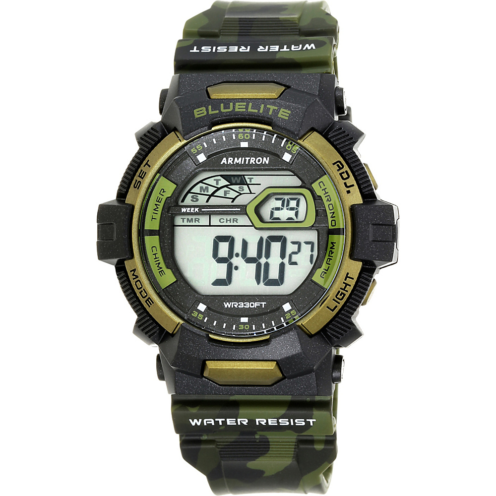 Armitron Sport Mens 4Digital Watch with Camouflage Band Green Camoflauge Armitron Watches