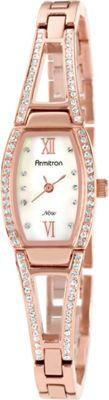 Armitron Womens Swarovski Crystal Accented Rosegold-Tone Bangle Watch Rose Gold - Armitron Watches