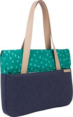 STM Goods 15 inch Grace Deluxe Medium  Sleeve Teal Dot/Night Sky - STM Goods Messenger Bags