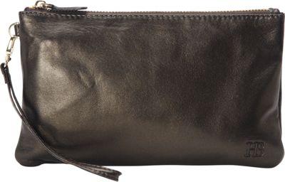HButler The Mighty Purse Phone Charging Wristlet-Shimmer Black Shimmer - HButler Leather Handbags