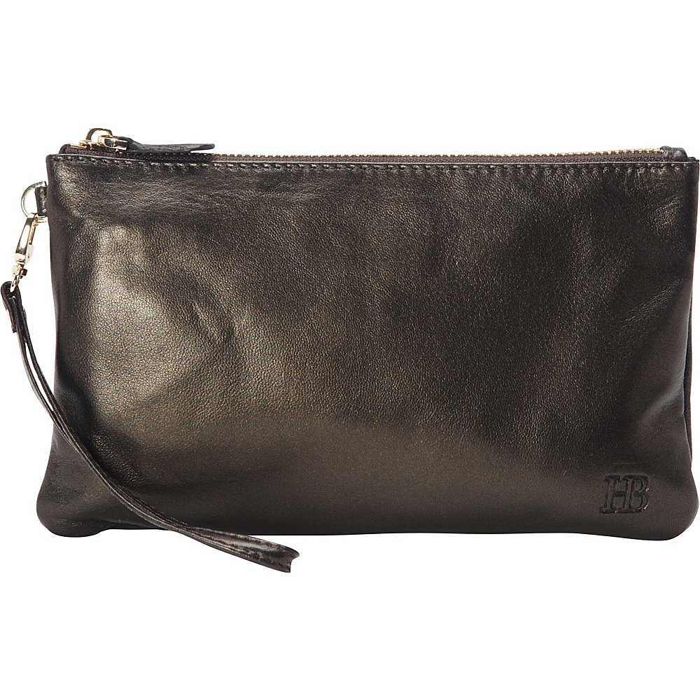 HButler The Mighty Purse Phone Charging Wristlet Shimmer Black Shimmer HButler Leather Handbags